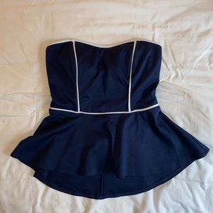 Strapless Top with Bow in back